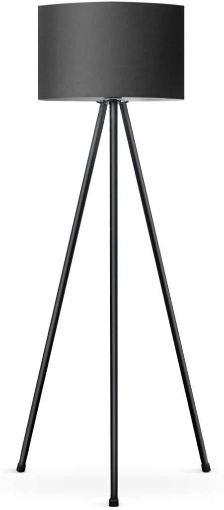 Lámpara de Pie Lámpara vertical en negro con trípode